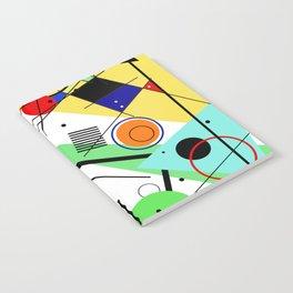 Retro Crazy - Abstract, random, crazy, geometric, colourful artwork Notebook