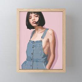 Women on the pink background! Framed Mini Art Print