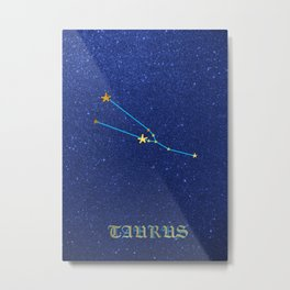 Constellations - TAURUS Metal Print