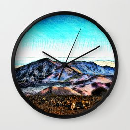 Haleakala Crater Wall Clock