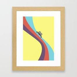 Funny Bug Bites Candy Colored Stripes Framed Art Print