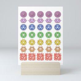 Chakra Pattern Mini Art Print