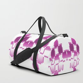pink purple white cactus abstract geometrical art Duffle Bag