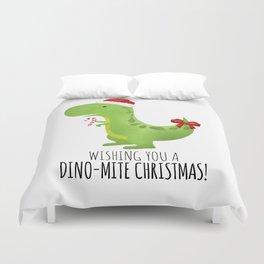 Wishing You A Dino-Mite Christmas Duvet Cover