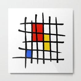 Naive - Nearly Piet almost Mondrian Metal Print