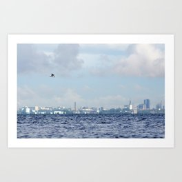 Watching Over The City Art Print