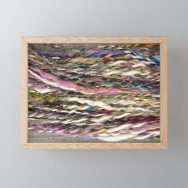 """Carnival"" Handspun Yarn Framed Mini Art Print"