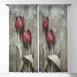 Red Tulips II Blackout Curtain
