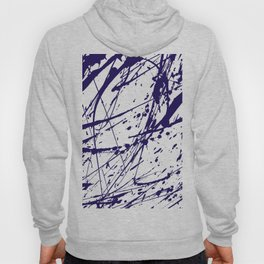 Modern abstract navy blue watercolor brushstrokes pattern Hoody