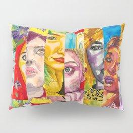 Female Faces Portrait Collage Design 1 Pillow Sham