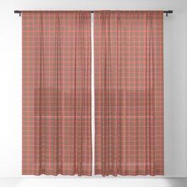Bruce Tartan Plaid Sheer Curtain