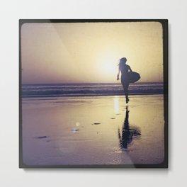 Surf Chick Metal Print