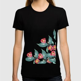 Watercolor camellia flowers T-shirt