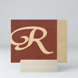 Monogram R  Mini Art Print