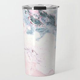 Blue and Pink Marble Travel Mug