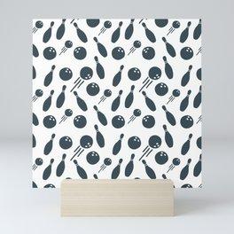 Bowling Pattern | Strike Spare Team League Mini Art Print