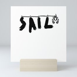 Sailing With Anchor Long Rope And Knot Mini Art Print