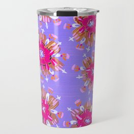 Pink Christie Rose Travel Mug