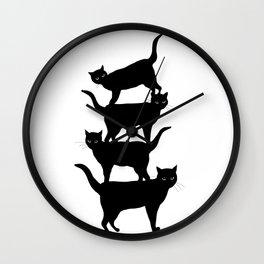acro-cats Wall Clock