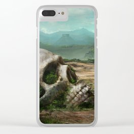 Giant skull Clear iPhone Case