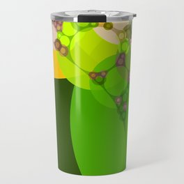 veronica - bright abstract of lime grass green and warm gold yellow Travel Mug