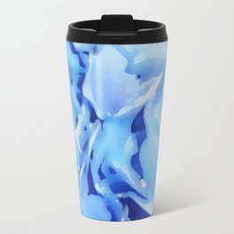 Light Blue Flowers Travel Mug