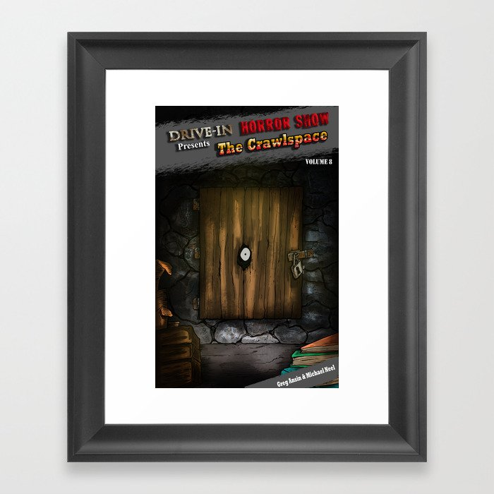 The Crawlspace Cover Art - Drive-In Horrorshow Framed Art Print