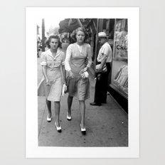 Women Walking Art Print