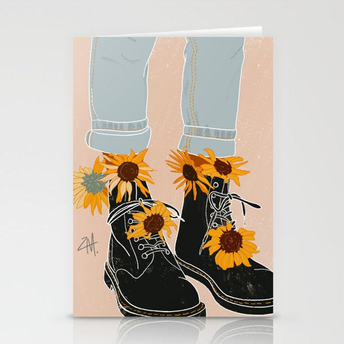Flower Boots Stationery Cards