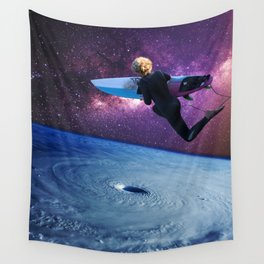 Jumping into the wave machine Wall Tapestry
