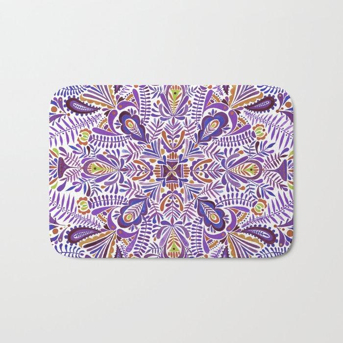 Gloomy purple mandala pattern Bath Mat