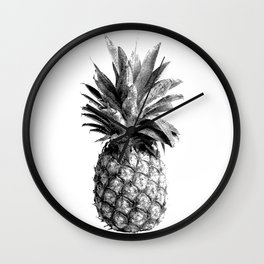 Pineapple Engraving Wall Clock
