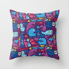 Mo' Monsters Mo' Problems Throw Pillow