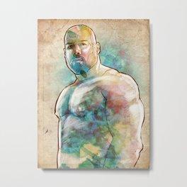 Muscle Bear Metal Print