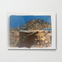Alchemy at Anapra original painting, ciudad juarez - el paso border . cardboard barrio Metal Print