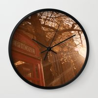 telephone Wall Clocks featuring Telephone. by Beth Retro
