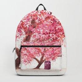 Tardis Tree Art Blossom Backpack