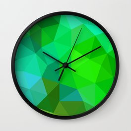 Emerald Low Poly Wall Clock