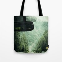 drive Tote Bags featuring Drive by Hannah Kemp