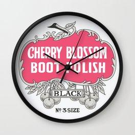 Vintage Cherry Blossom Wall Clock