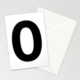 Number 0 (Black & White) Stationery Cards