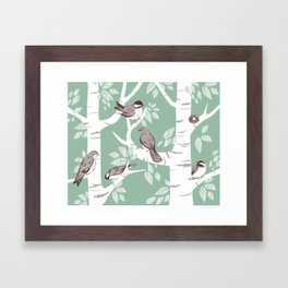 Birch Birds Framed Art Print