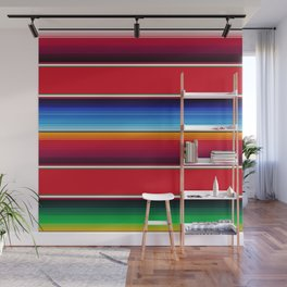 Traditional Mexican Serape in Red Multi Wall Mural