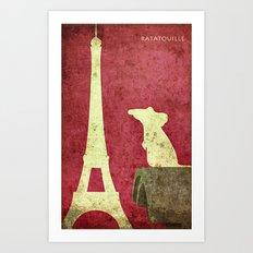 A small rat making it big in paris Art Print