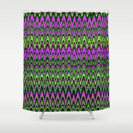 Making Waves Neon Lights Shower Curtain