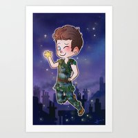 peter pan Art Prints featuring Peter Pan by Sunshunes
