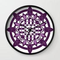 yoga Wall Clocks featuring Yoga by Janava