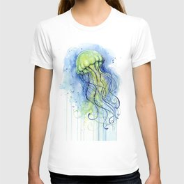 Jellyfish Watercolor Beautiful Sea Creatures T-shirt