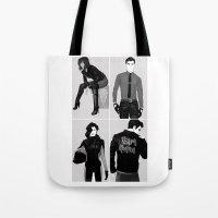 korra Tote Bags featuring Team Korra by KaiAyame