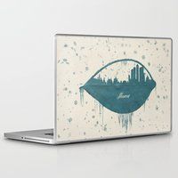 moscow Laptop & iPad Skins featuring Frozen Moscow by Paula Belle Flores